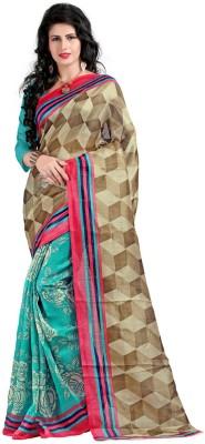 Wwskey Printed Bhagalpuri Silk Sari