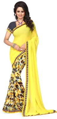 zhenith creation Printed Fashion Georgette Sari