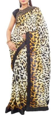 Estri Self Design Fashion Satin, Georgette Sari