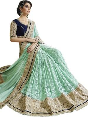 Rajhans Fashion Embellished Fashion Lycra, Net Sari