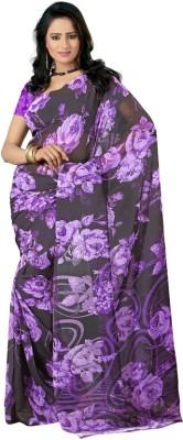 HSFS Printed Daily Wear Georgette Sari