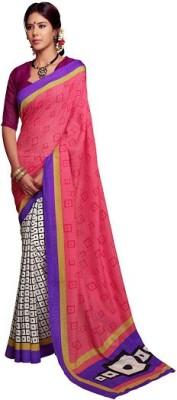 Rainbow Suits Printed Bhagalpuri Banarasi Silk Sari