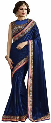 Royal Desi Apparel Embriodered Bollywood Lycra Sari
