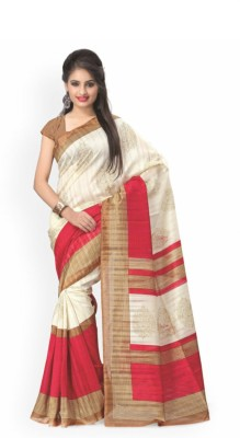 Home Design Printed Fashion Tussar Silk Sari
