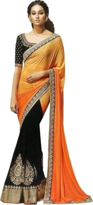 Sunrise International Embriodered Bollywood Handloom Georgette Sari
