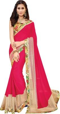 Hitansh Fashion Self Design Fashion Chiffon Sari