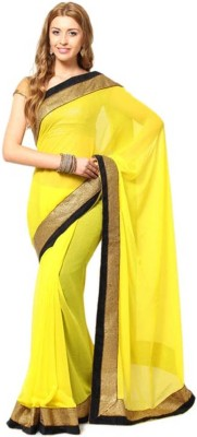 aivi fashion Embriodered Bollywood Georgette Sari