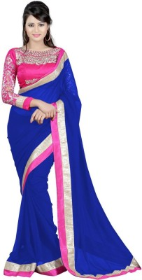 Khodiyar Creation Plain Fashion Georgette Sari