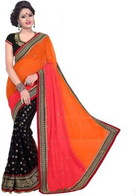 Hanuman Fabrics Printed Bollywood Handloom Georgette Sari