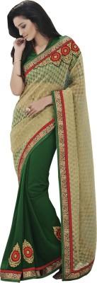 Laxmi Selling Embellished Bollywood Handloom Georgette, Jacquard, Raw Silk Sari