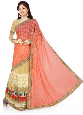 Roop Kashish Embriodered Bollywood Brasso, Net Sari