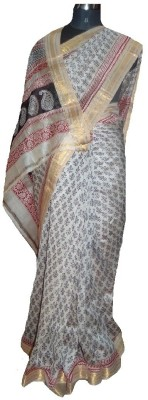malvika exclusive Printed Chanderi Handloom Chanderi Sari