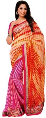 Shoppingover Printed Fashion Chiffon Sari