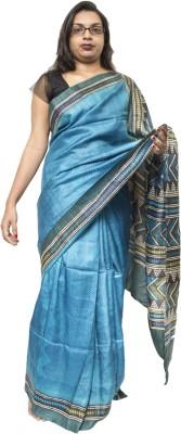 Chitrita Geometric Print Fashion Handloom Tussar Silk Sari