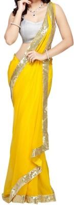 Shaurya Trendz Plain Fashion Lace Sari