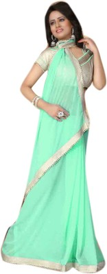 Lajo Solid Bollywood Georgette Sari