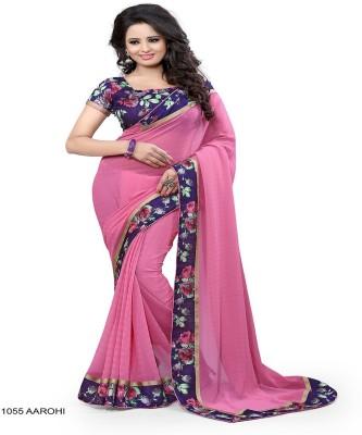ambey shree trendz Checkered Bhagalpuri Synthetic Sari