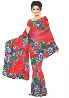 Archit Printed Daily Wear Crepe Sari