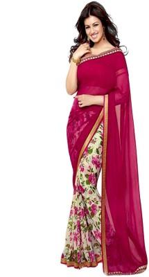 Hanscreation Floral Print Daily Wear Georgette Sari