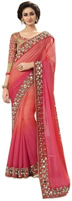 Style Sensus Embriodered Bollywood Georgette Sari