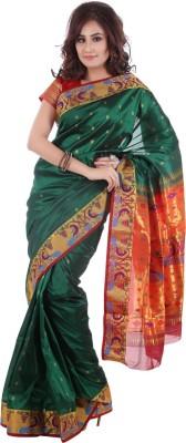 Aruna Fashions Printed Paithani Handloom Art Silk Sari