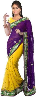 TrynGet Embriodered Fashion Chiffon Sari
