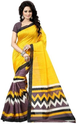 Nirja Enterprise Printed Bhagalpuri Polycotton Sari