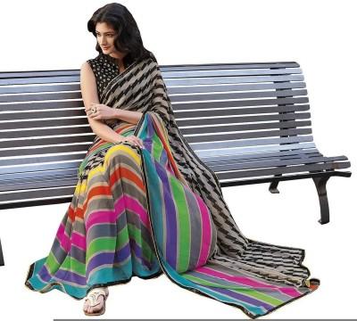 Amisha Creation Printed Bollywood Handloom Crepe Sari