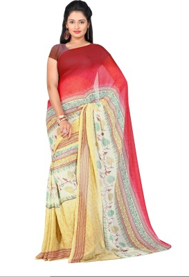 Long Fashion Printed Bhagalpuri Handloom Georgette Sari