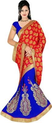 Shree Balaji Textile Embriodered Bollywood Synthetic Sari