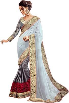 Manish Creation Embellished, Embriodered Bollywood Silk, Jacquard Sari