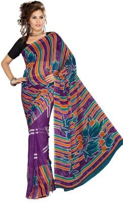 Sukuma Floral Print Daily Wear Georgette Sari