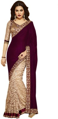 Cozee Shopping Embriodered Fashion Brasso, Velvet Sari