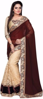 Morpankh Enterprise Solid Bollywood Pure Georgette Sari