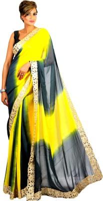 Geisha Self Design Fashion Georgette Sari
