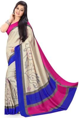 Sarovar Sarees Self Design, Geometric Print, Striped, Floral Print, Printed Fashion Art Silk Sari