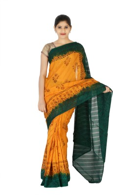 Younus Dyeing And Printing Works Printed Leheria Georgette Sari