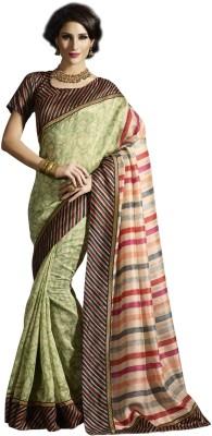 Sudarshan Silks Geometric Print, Self Design Rasipuram Raw Silk Sari