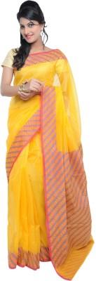 Ujala Silk Striped Banarasi Cotton, Art Silk Sari