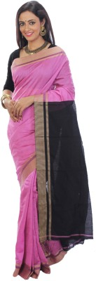SSMITN Solid Tant Cotton Sari