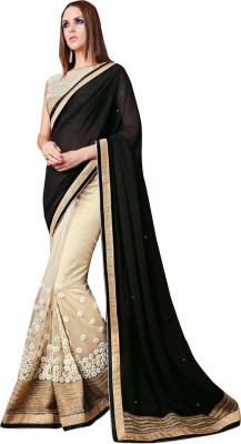 Shoponbit Embriodered Bollywood Georgette Sari