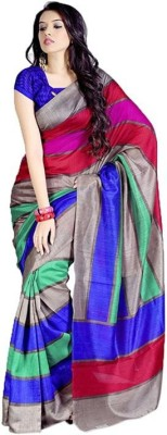 Vwaan Fashion Printed Fashion Art Silk Sari