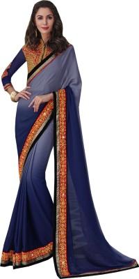 Go Traditional Embriodered Fashion Chiffon Sari