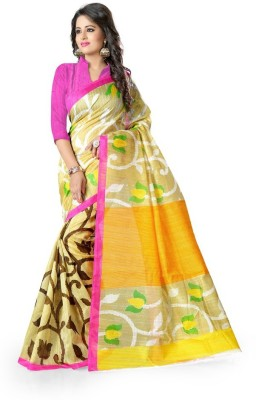 See More Floral Print Bhagalpuri Art Silk Sari