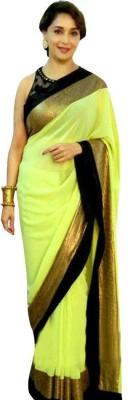Meera Saree Plain Bollywood Chiffon Sari