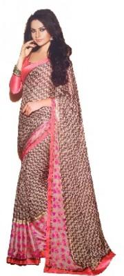 Taani Checkered Fashion Synthetic Chiffon Sari