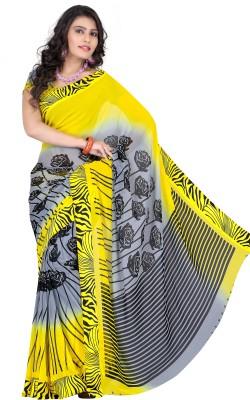 Rajesh Silk Mills Printed Fashion Satin, Chiffon Sari