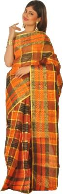 Loom&Crafts Self Design Tant Handloom Cotton Sari