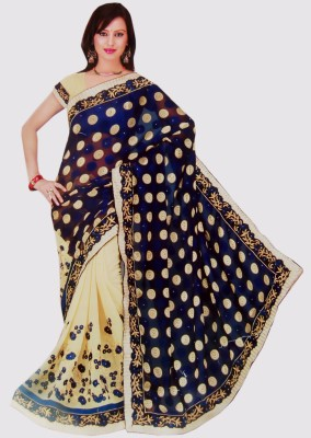 Shubham tex Self Design Fashion Georgette Sari