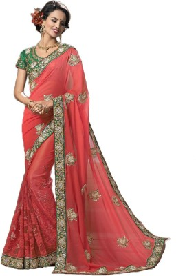 Rajhans Fashion Embriodered Fashion Georgette Sari